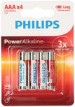 Baterie mikrotužkové AAA Philips Powerlife, 4ks