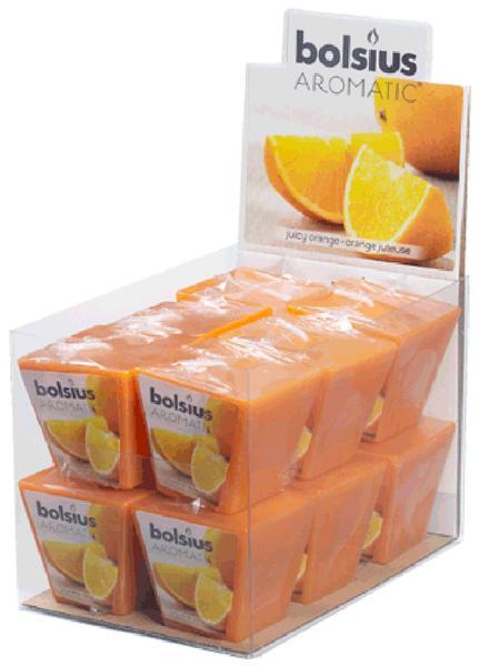 Svíčka čtverec, pomeranč