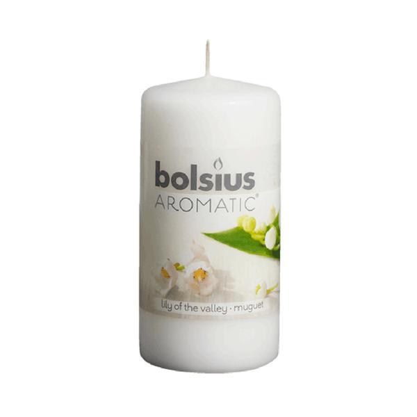 Svíčka válec Bolsius 12 x 6 cm, konvalinka