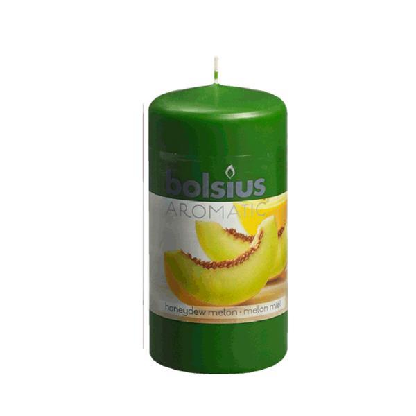 Svíčka válce meloun, 5,9 x 12,1 cm