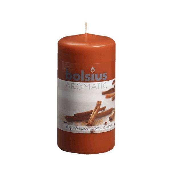 Svíčka válec Bolsius 12 x 6 cm, koření