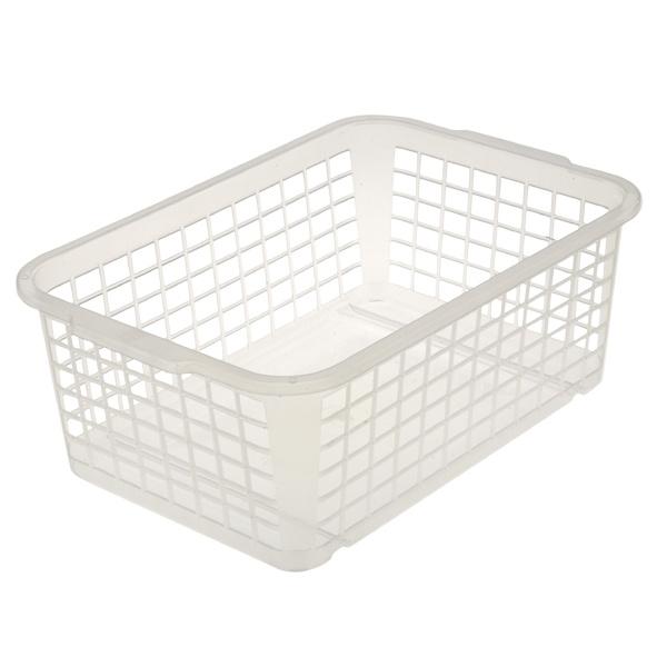 Košík mini, plast, transparentní