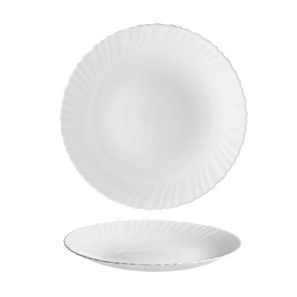 """Talíř jídelní """"TITAN"""", opálové sklo 24 cm"""