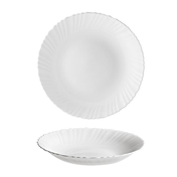 """Talíř polévkový """"TITAN"""", opálové sklo 22 cm"""