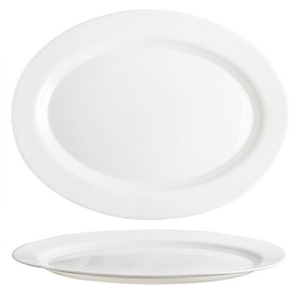 """Talíř oválný """"Elba"""", opálové sklo, 36 cm"""