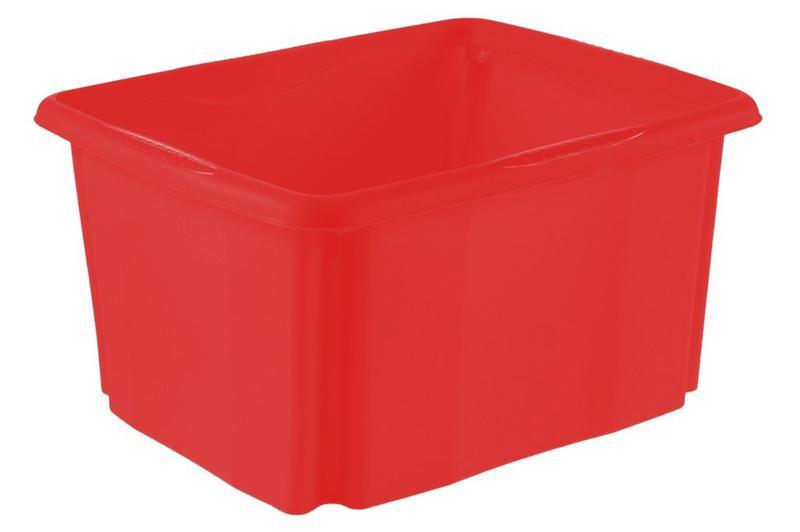 Box úložný, objem 24 l,  červený