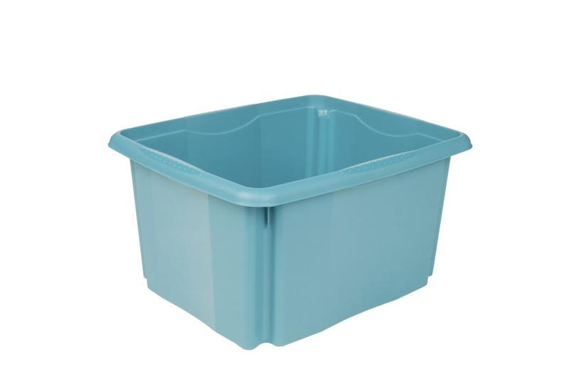 Box úložný, objem 24 l, modrý
