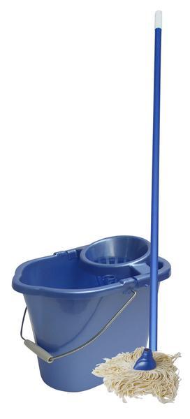 Porvázkový mop a oválný kbelík MISTER, objem 14 l