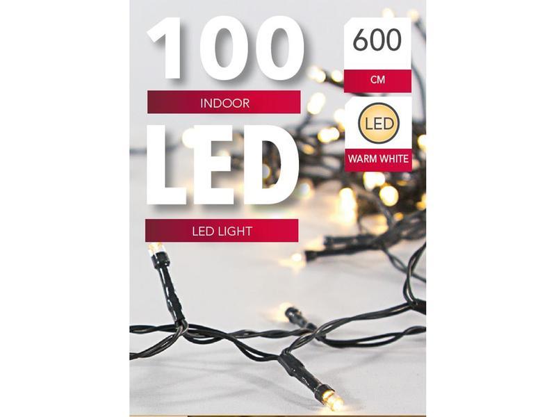 ŘETĚZ 100 LED SVĚTEL, ZELENÁ