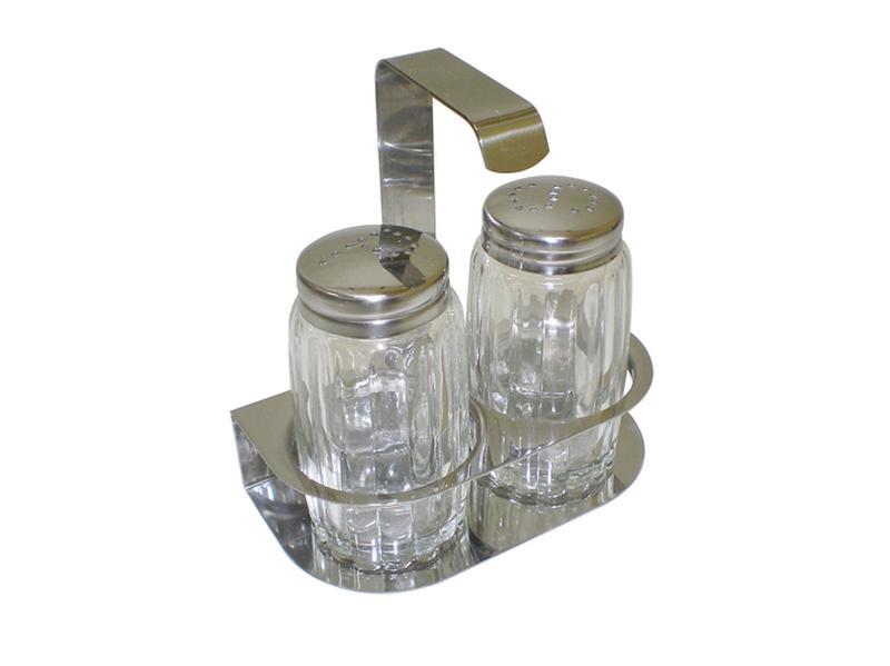 Menážka malá, ve stojánku, sůl a pepř