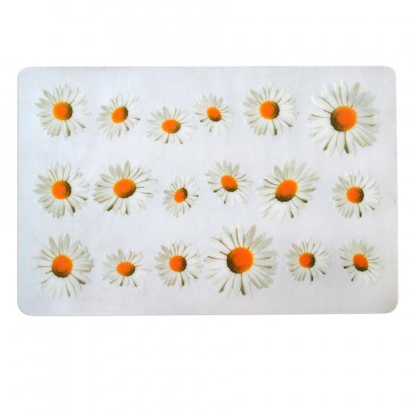 """Prostírání """"květiny"""" transparentní podklad, 28 x 43 cm"""