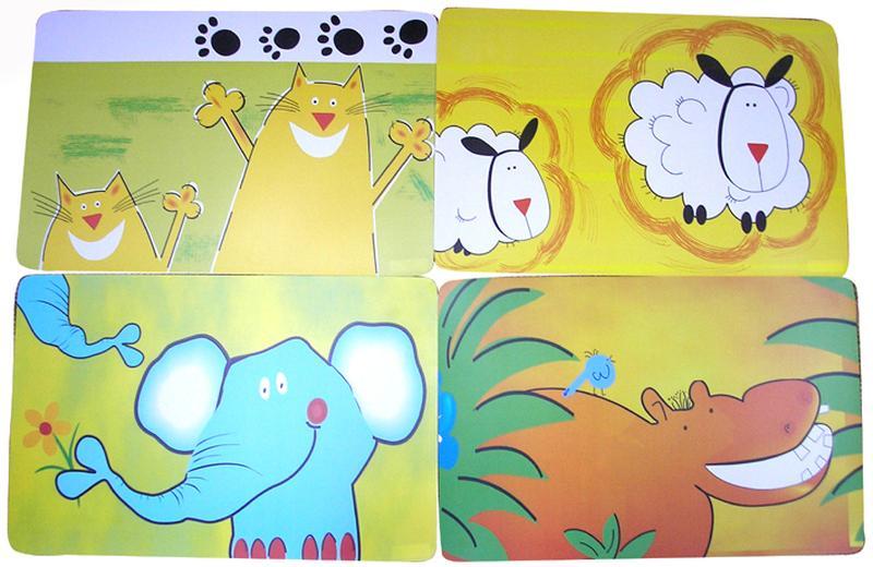 """Prostírání """"Zvířátka"""", 28 x 43 cm"""