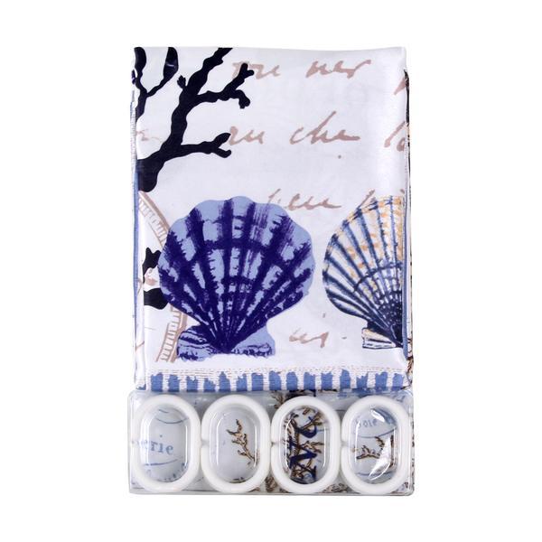 Sprchový závěs, textilní se vzorem,180 x 180 cm