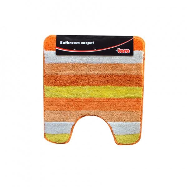 WC předložka, pruhy, oranžová, 50 x 55 cm