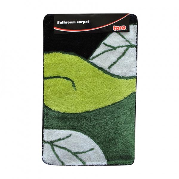 Koupelnová předložka 50 x 80 cm, motiv list-zelená