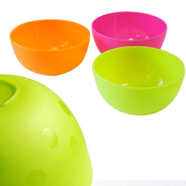 Plastová miska, kulatá, set 4 ks