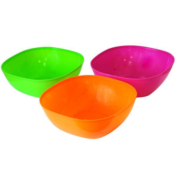 Plastová miska, čtverec, set 4 ks