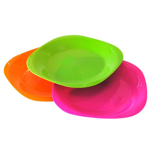 Plastový talíř, čtverec, set 4 ks