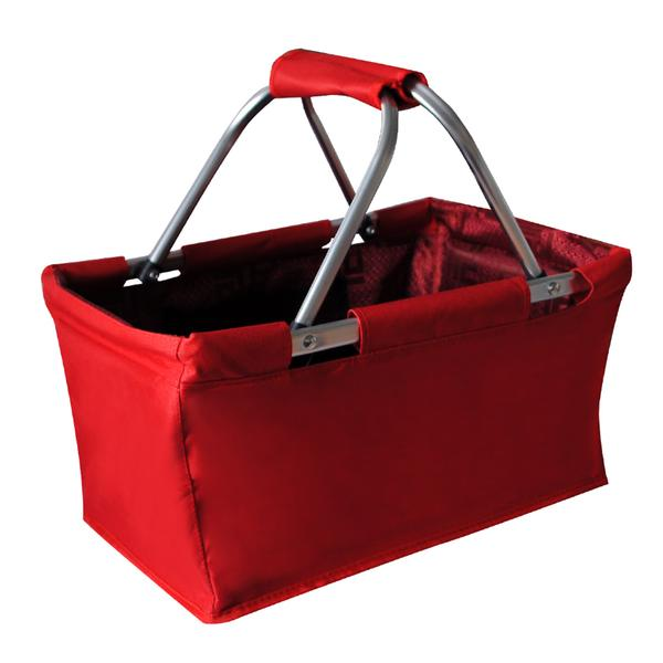 Nákupní košík skládací 29 l - červený