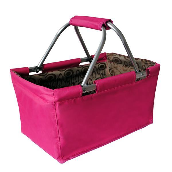 Nákupní košík skládací 29 l - růžový