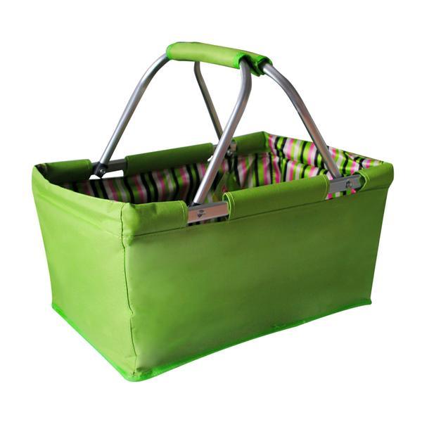 Nákupní košík skládací 29 l - zelený