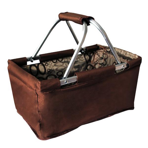 Nákupní košík skládací 29 l - hnědý