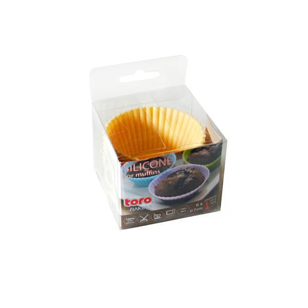Forma silikon, košíčky na muffiny 6ks,krémová
