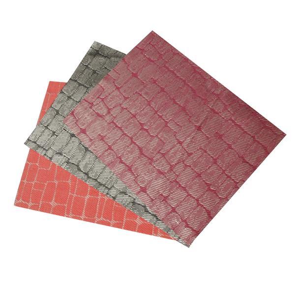 """Prostírání tkané """"čtverec"""" 45 x 30 cm, černá/červená"""