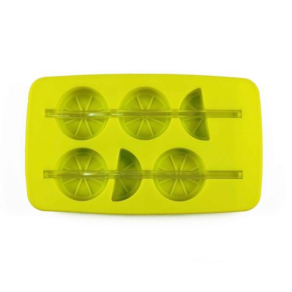Forma silikon na led s brčkem, citrón, zelená/ bílá