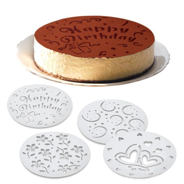 Šablona na zdobení dortů, 4 designy