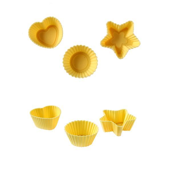 Muffiny mini silikon, 32 ks, krémová
