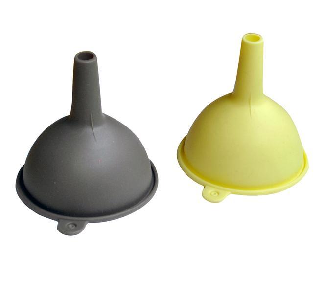 Trychtýř silikon, krémová/šedo-hnědá