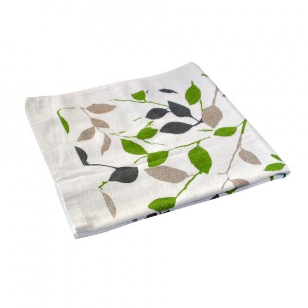 Kuchyňská utěrka, zelené květy
