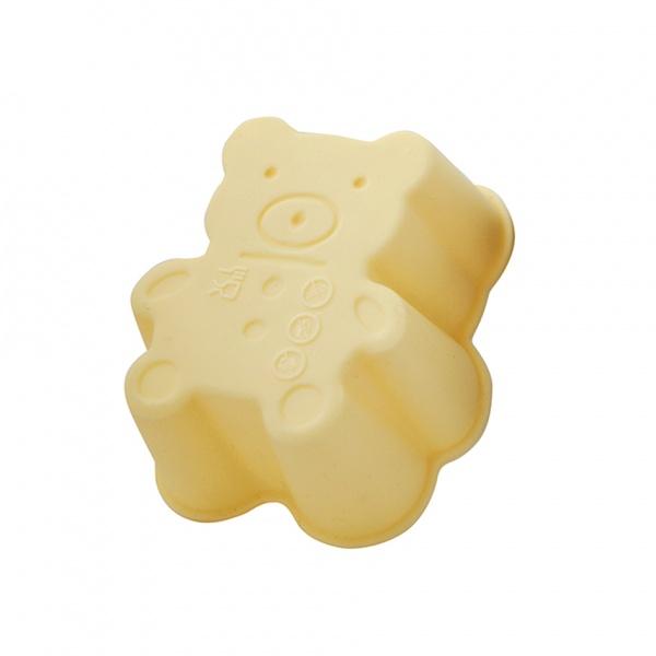 Set silikonových formiček, 3 ks, krémová, medvídek