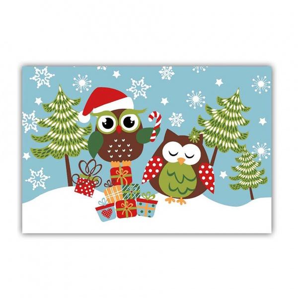 """Prostírání """"sovy vánoce"""", plast"""