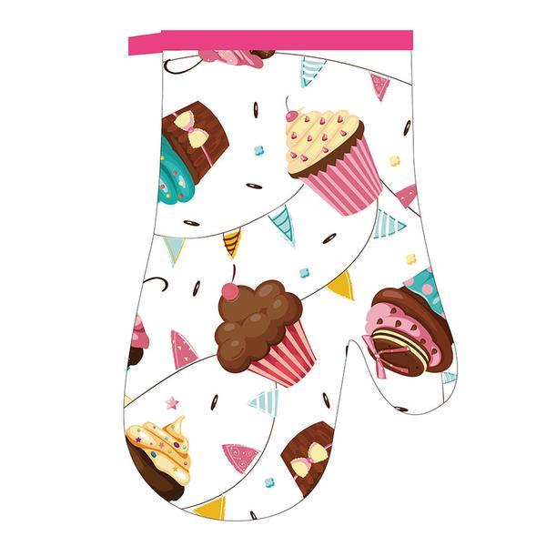Kuchyňská chňapka, rukavice, dortíky