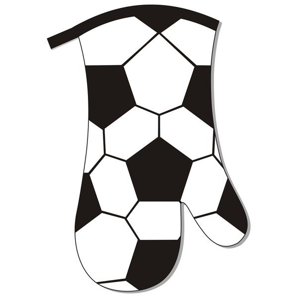 Kuchyňská chňapka, rukavice, fotbal