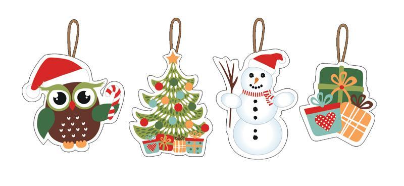 Vánoční ozdoby 7-8 cm, 12 ks