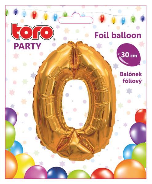 """Balónek číslice """"0"""", 30 cm, assort"""
