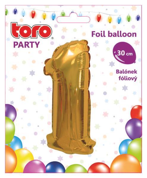 """Balónek číslice """"1"""", 30 cm, assort"""