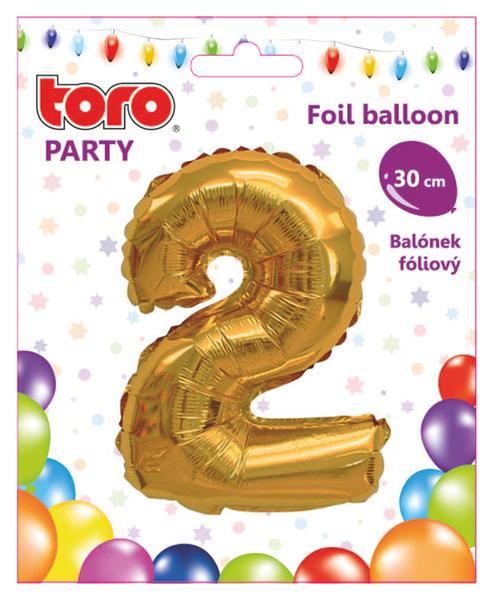 """Balónek číslice """"2"""", 30 cm, assort"""