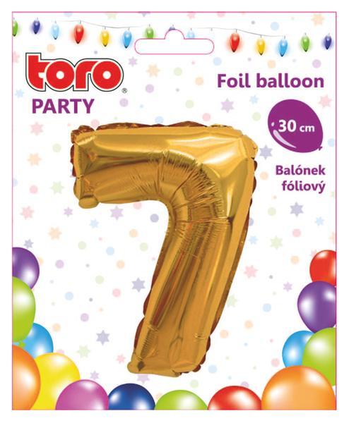 """Balónek číslice """"7"""", 30 cm, assort"""