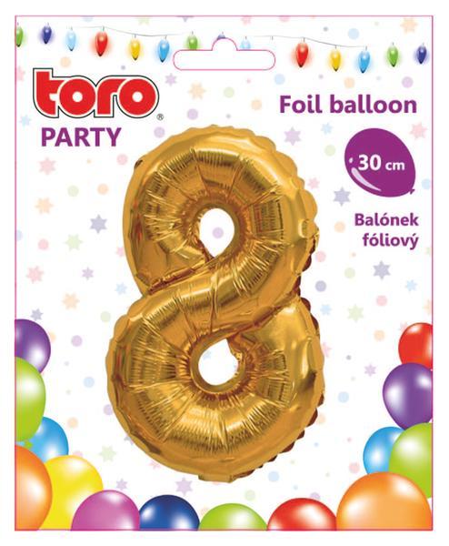 """Balónek číslice """"8"""", 30 cm, assort"""
