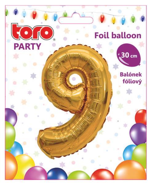 """Balónek číslice """"9"""", 30 cm, assort"""