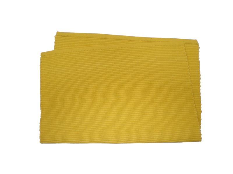 Prostírání žebrovaný profil, žluté
