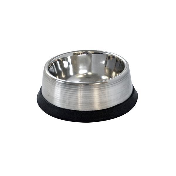 Miska hluboká pro zvířata s protiskluzovou gumou, nerez, 16 cm