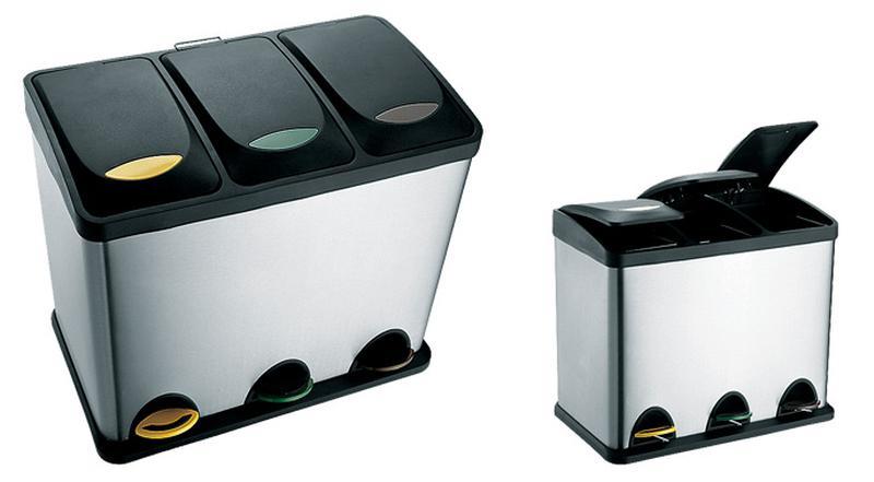 Koš na odpadky nerez, na tříděný odpad, objem 24 l