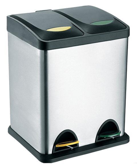 Koš na odpadky nerez, na tříděný odpad, objem 16 l