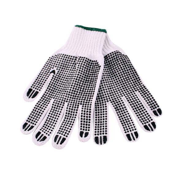 Rukavice pletené s oboustranným vzorem, bavlna