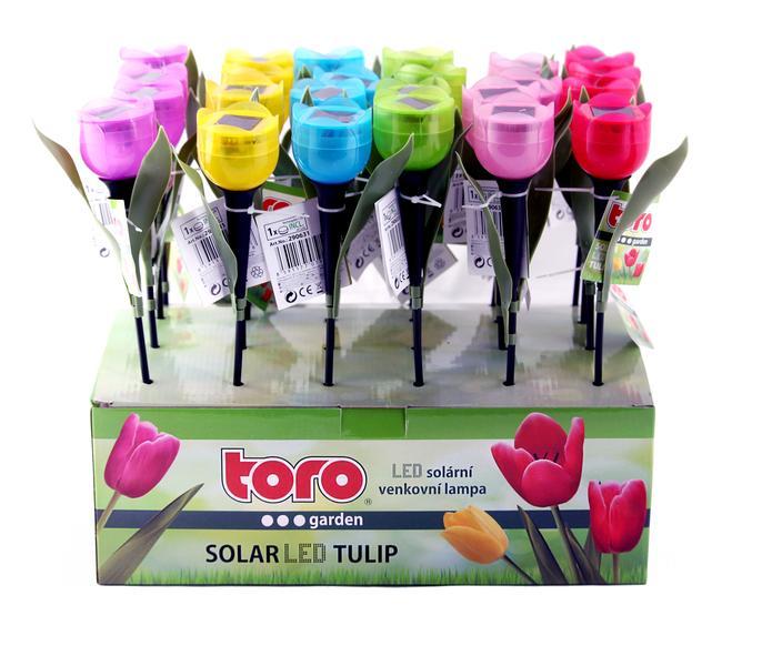 Solární LED lampa, tulipán